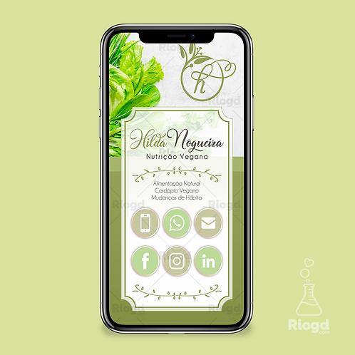 Cartão Digital Personalizado para Nutricionistas Vegan Naturale