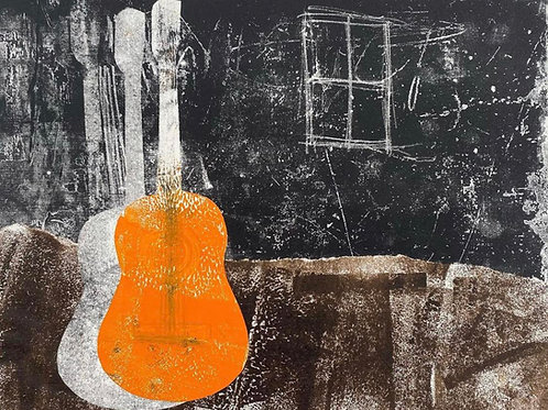 Guitar by Rennie P 50x40cm