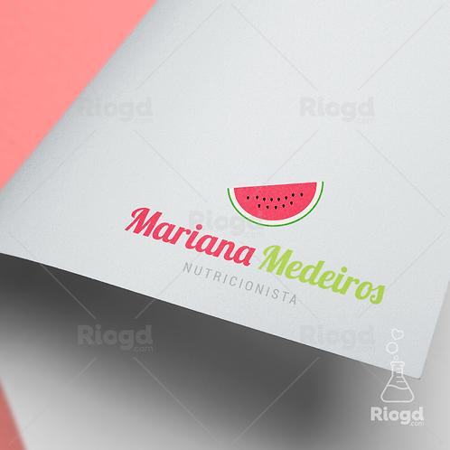 Logotipo pronto para Nutricionistas Juicy Melancia