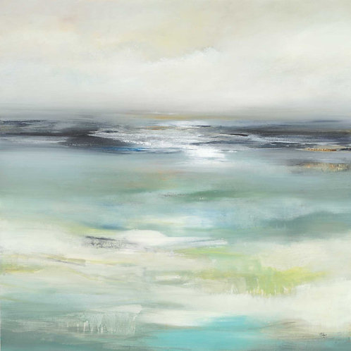 Layered Scape by Lisa Ridgers 40x40cm