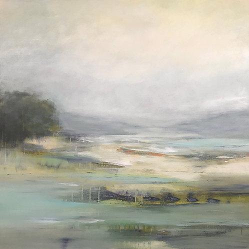 Restful Views by Lisa Ridgers  100x100cm