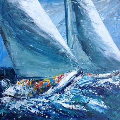 Sailing II by Jane Vaux 50x40cm