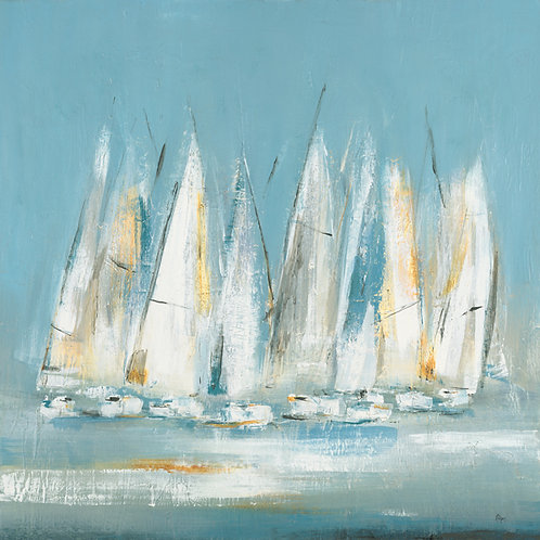 A Day To Sail by Lisa Ridgers 50x50cm