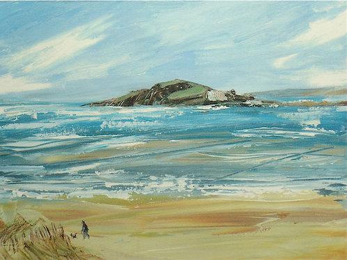 Burgh Island by Jane Vaux 50x40cm