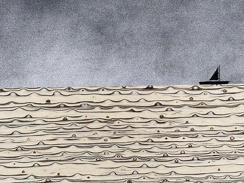 Sailing by Rennie P 60x43cm