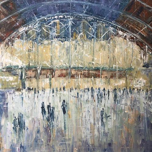 Paddington Station by Jane Vaux 100x100cm