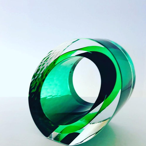Medium Cut Glass green by Graeme H