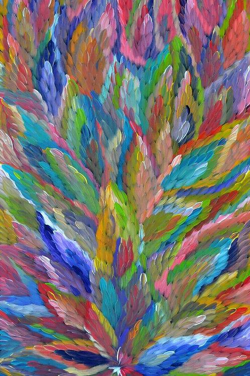 Bush Medicine Leaves, Caroline Numina 160x90cm