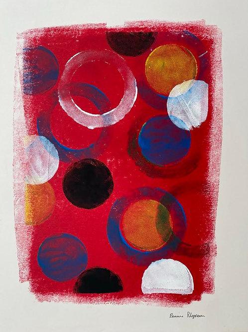 Circles by Rennie P 50x40cm