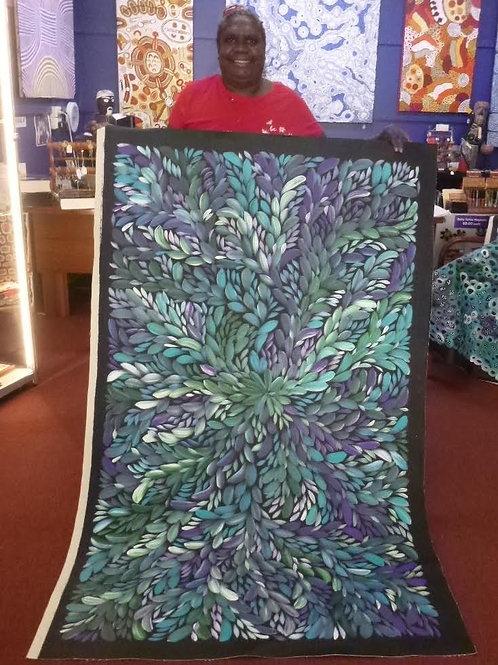 Bush Medicine Leaves, Louise Numina 160x100cm