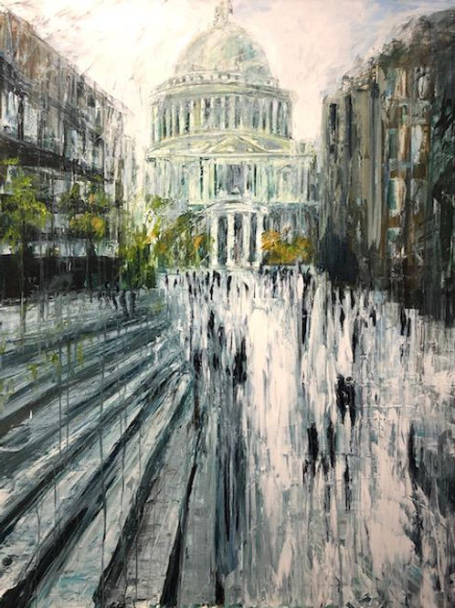 St. Pauls Cathedral by Jane Vaux 152x122cm