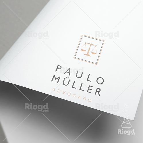 Logotipo Personalizado para Advogados Contemporâneo Chumbo