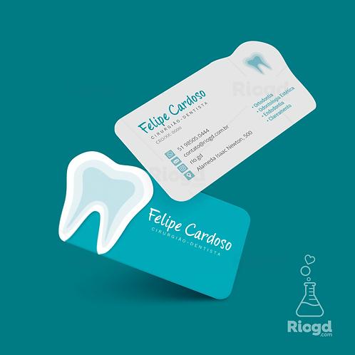 Cartão de Visita Personalizado para Dentistas – Corte Especial Blue