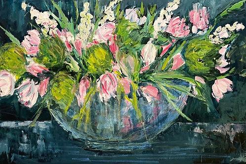Flowers by Jane Vaux 61x92cm