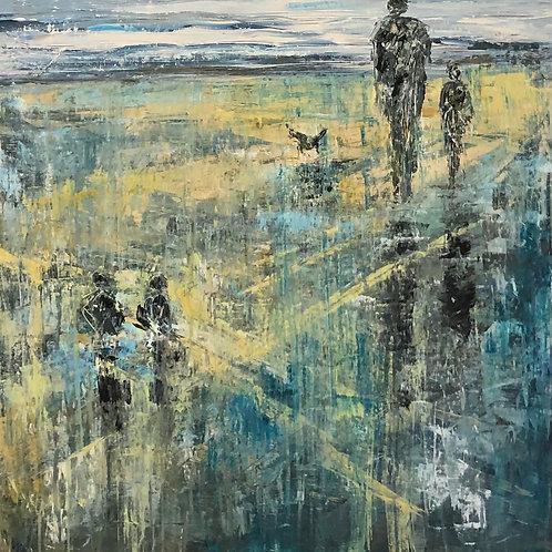 Shoreline by Jane Vaux 90x90cm