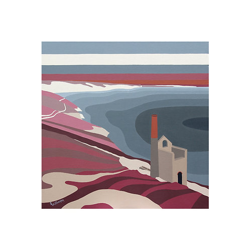 Wheal Coates, Cornwall by Suzanne W 40x40cm