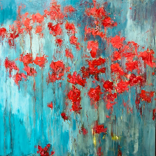 Poppies II Jane Vaux - by commission