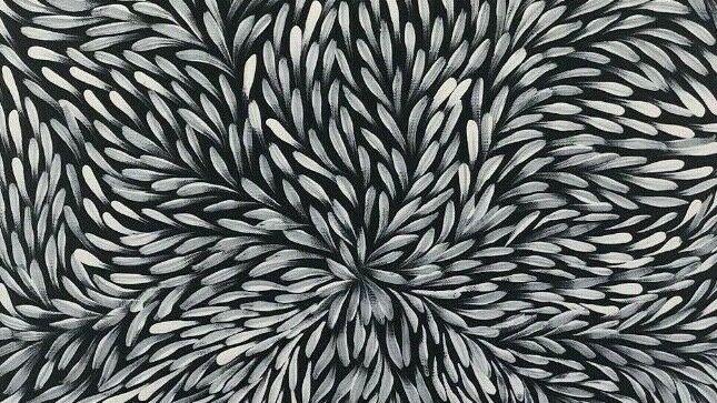 Bush Medicine Leaves by Jeannie Petyarre 100x50cm