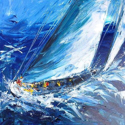 Sailing I by Jane Vaux 50x40cm