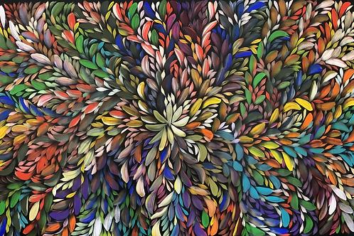 Bush Medicine Leaves, Louise Numina 140x92cm