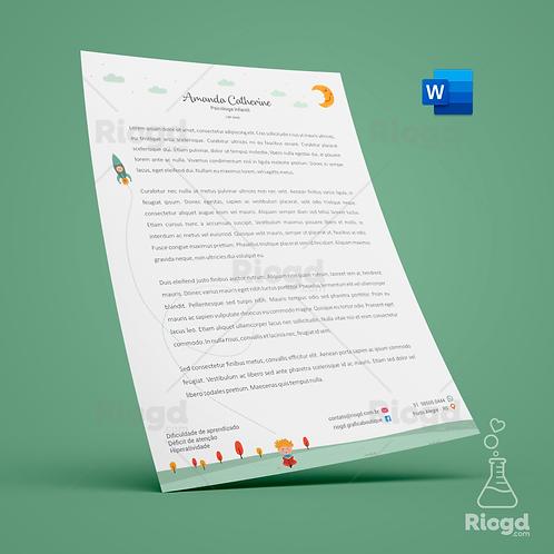 Timbrado Digital Personalizado para Psicologia Infantil - Sonhando Acordado