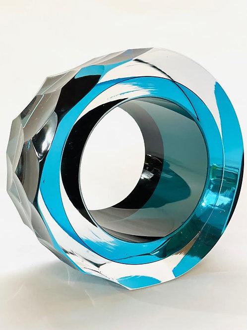 Glass Slice ocean blue by Graeme H