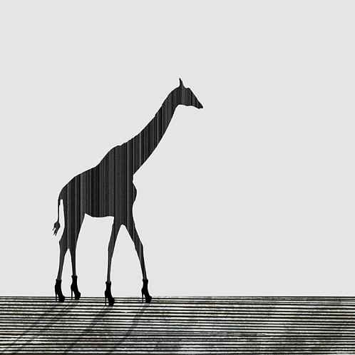 Giraffe in Heels by Rennie P 30x30cm