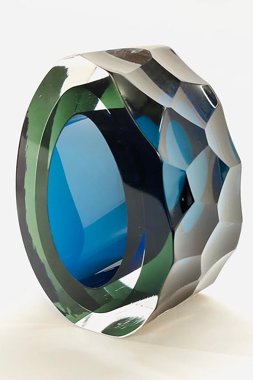 Glass Slice deep blue and green by Graeme H