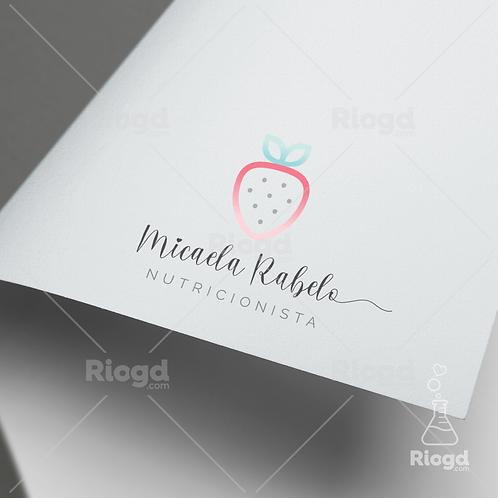 Logotipo pronto para Nutricionistas Moranguinho