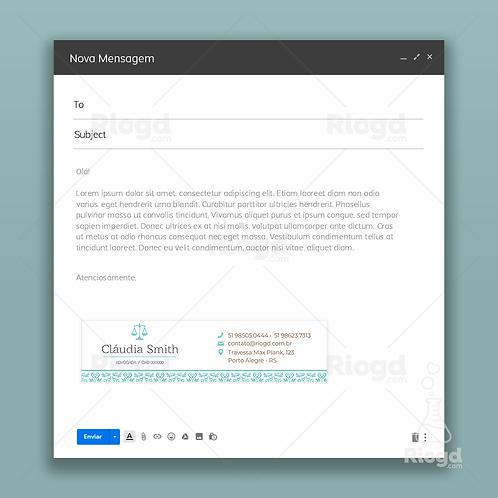 Assinatura de E-mail Personalizada para Advogados Oriente Dubai