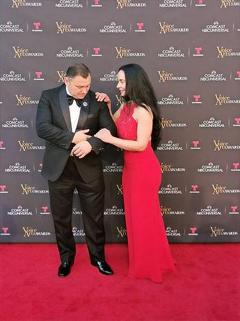 María Verónica Andrade y Fabián Toro at Voice Arts Awards, Hollywood, Burbank