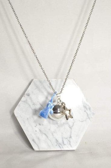 BOLA DE GRAVIDEZ - Estrela e pompom azul