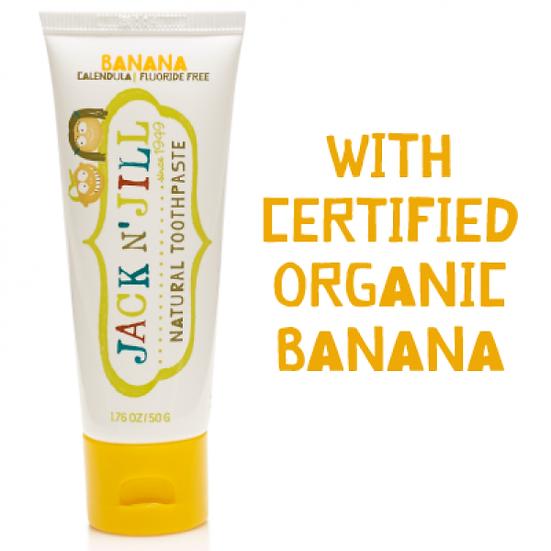 Pasta de dentes orgânica - sabor banana 50g