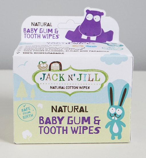Toalhetes naturais para gengivas e dentes ( 25 unidades )