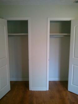 Acadian Court Bedroom closets