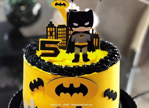 Topo de Bolo Batman Cute - Arquivo de Corte