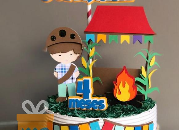 Topo de Bolo Festa Junina Lampião - Arquivo de Corte