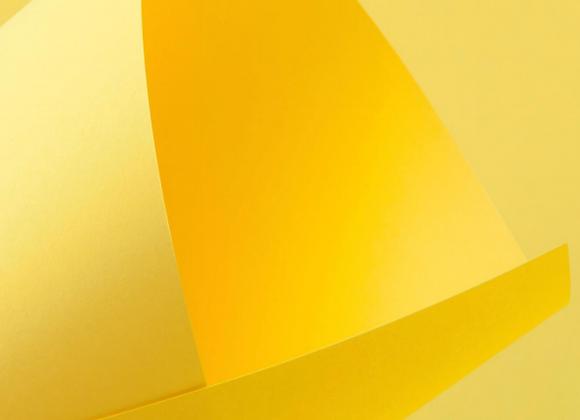 Papel Amarelo Flúor 30,5x30,5cm (COLOR FLUO YELLOW) - 20 unidades