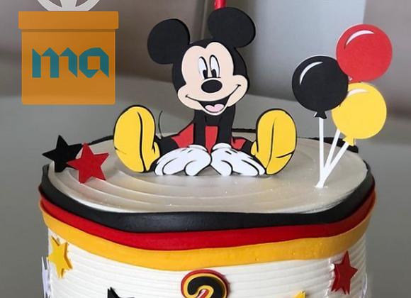 Topo de Bolo Mickey - Arquivo de Corte