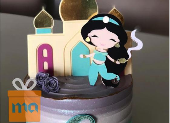 Topo de bolo Jasmine cute - Arquivo de Corte