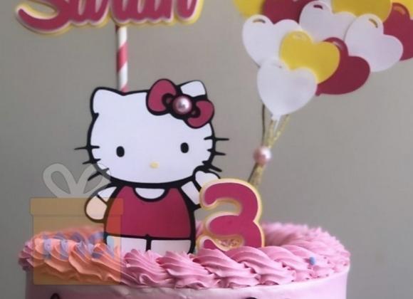 Topo de Bolo Hello Kitty- Arquivo de Corte
