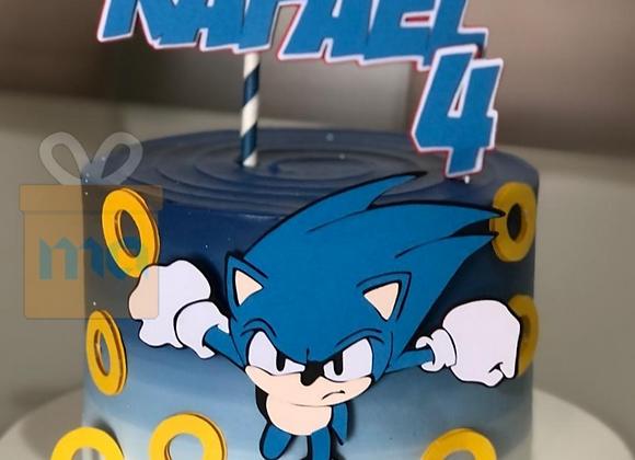 Topo de Bolo Sonic - Arquivo de Corte