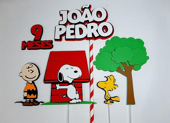 Topo de Bolo Snoopy - Arquivo de Corte