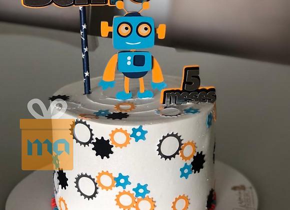 Topo de Bolo Robô - Arquivo de Corte