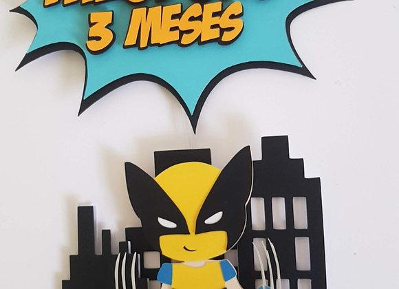 Topo de Bolo Wolverine Cute - Arquivo de Corte