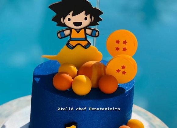 Topo de Bolo Dragon Ball Cute - Arquivo de Corte