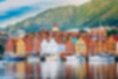 Bergen, Norway. View of historical build