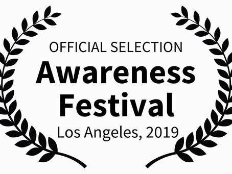CONSCIOUS SELECTED FOR AWARENESS FILM FEST, LOS ANGELES.