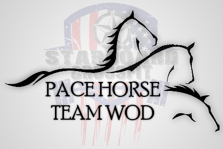 pace horse team wod starboard crossfit workout