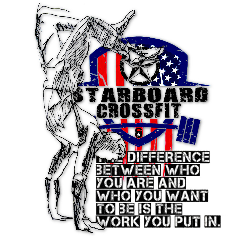 Starboard CrossFit   handstand walk   difference between who you are and who you want to be is the work you put in